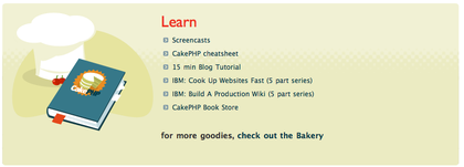 Screenshot of Cake inspiration